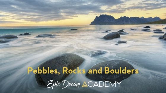 Pebbles, Rocks and Boulders
